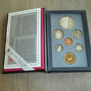 Lot # 143 - 1995 - Royal Canadian Mint - 7 pc Proof Set w/ Silver Dollar