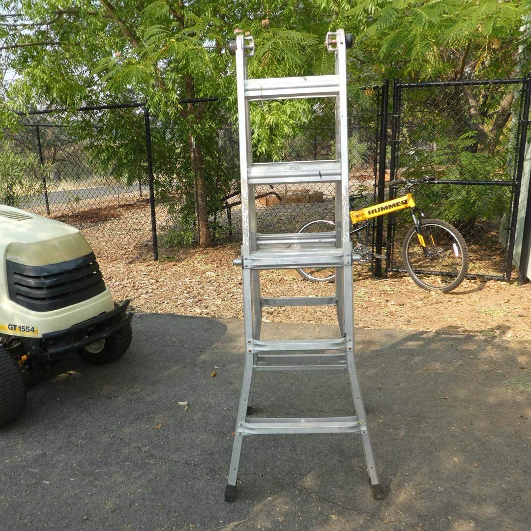 Lot # 53 - Multi Purpose Aluminum Ladder (main image)