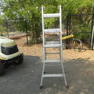 Lot # 53 - Multi Purpose Aluminum Ladder