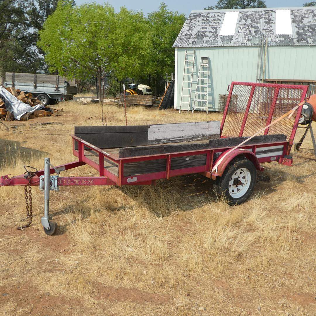 Lot # 57 - Big-Tex Flatbed Trailer - See Pics For Size (main image)