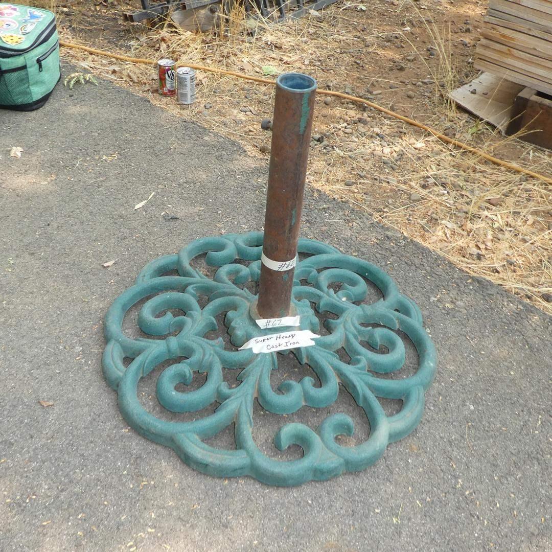 Lot # 62 - Very Heavy Cast Iron Umbrella Stand (main image)