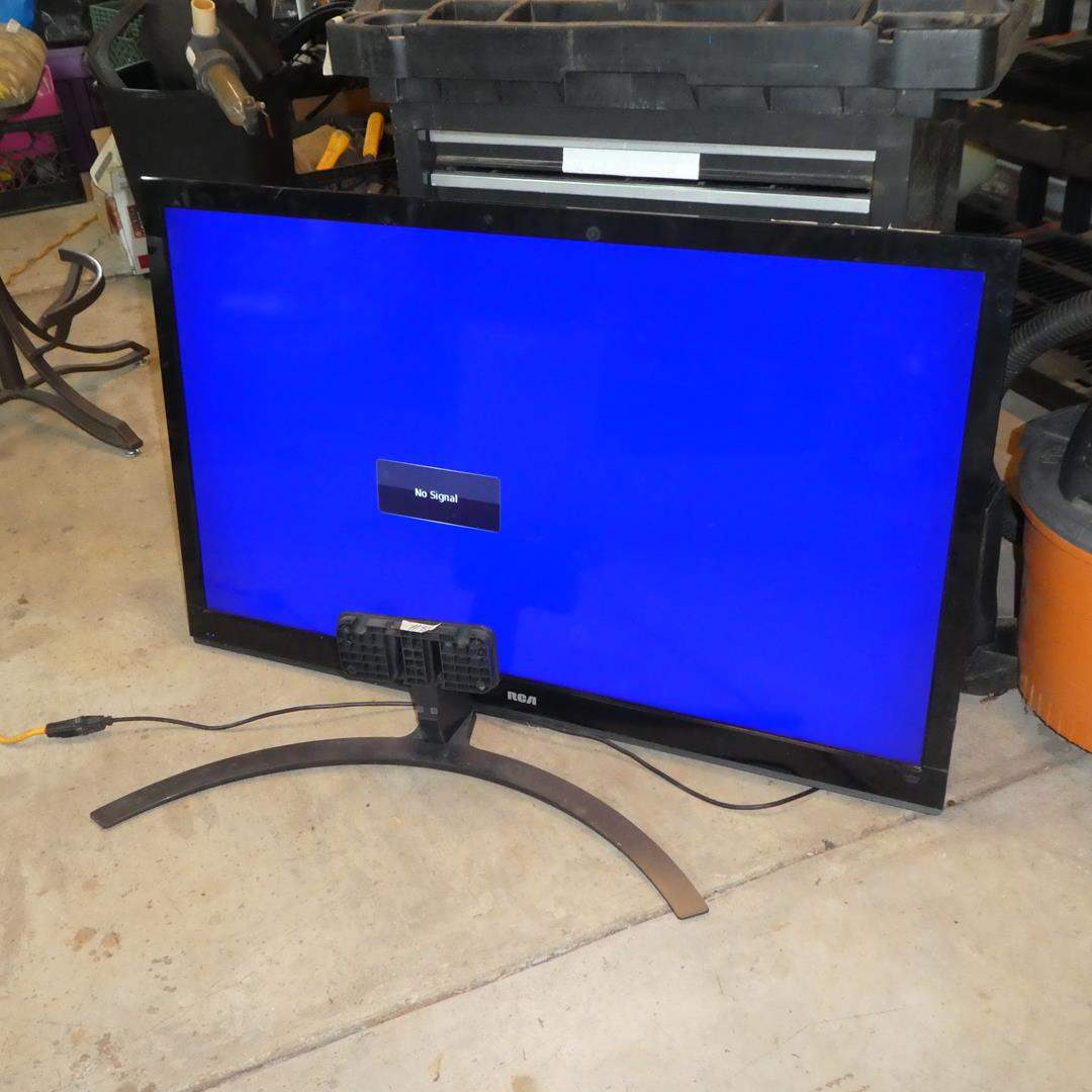 """Lot # 82 - RCA 50"""" LCD Full HDTV Flat Screen on Stand - Works - No Remote (main image)"""