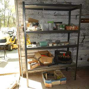 Lot # 86 - Garage Storage Shelf & Hardware