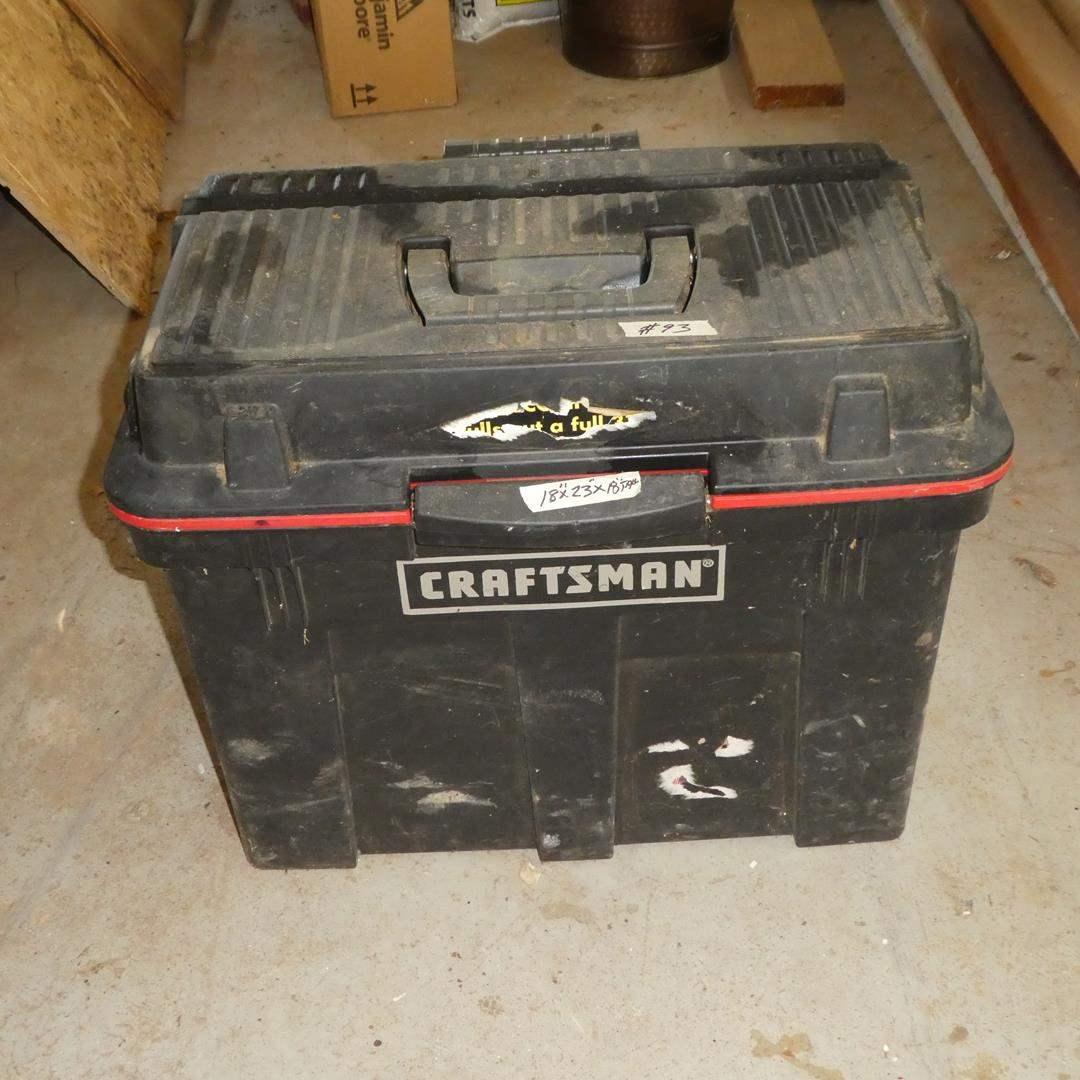 Lot # 93 - Portable Rolling Craftsman Tool Box & Misc. Tools (main image)