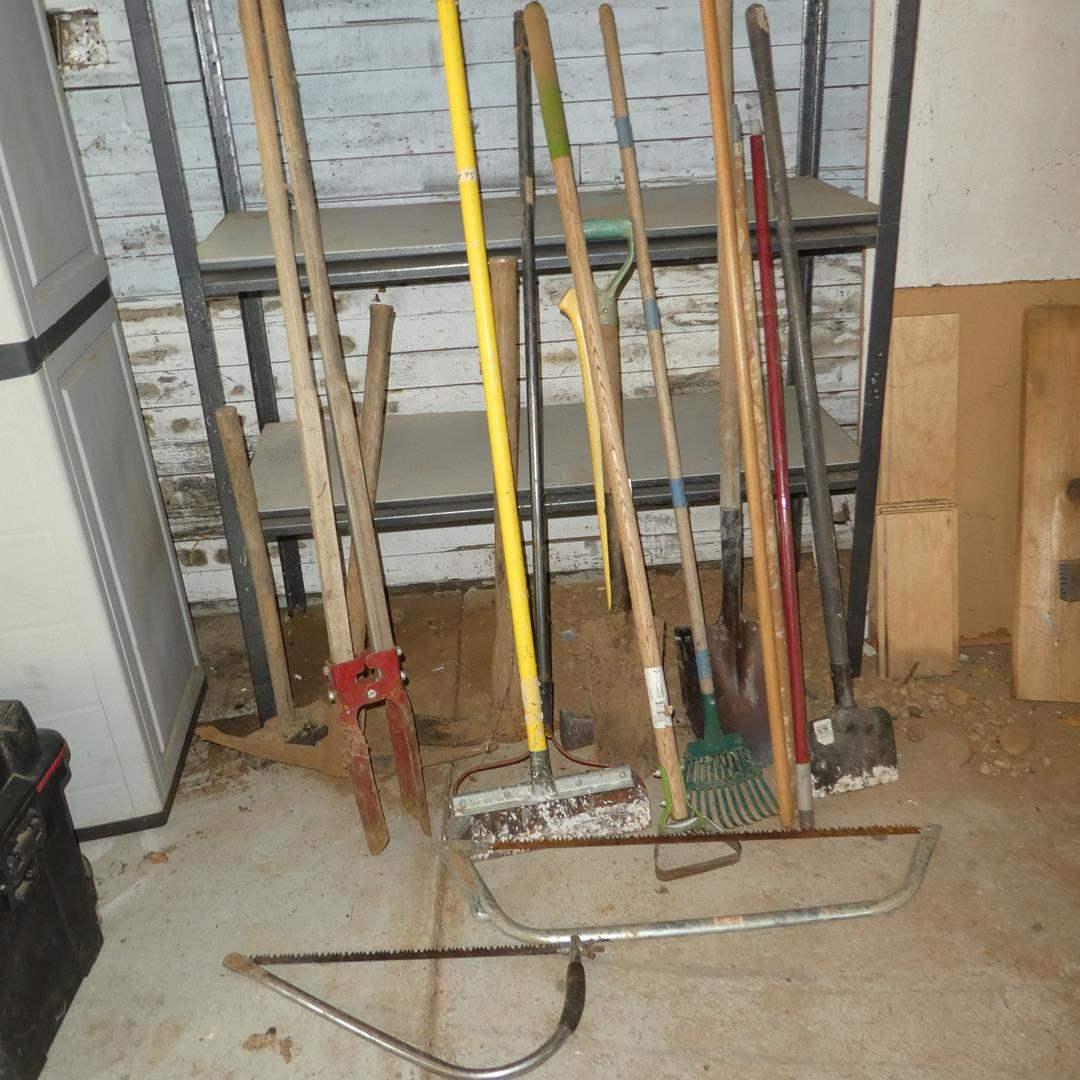 Lot # 95 - Assorted Yard Tools & Saws (main image)