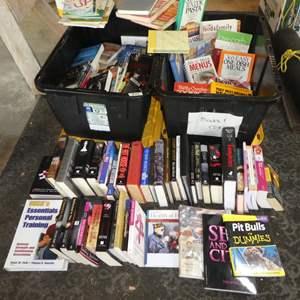 Lot # 99 - Big Lot of Assorted Books: Kids Books, Adult Novels, Cookbooks & More