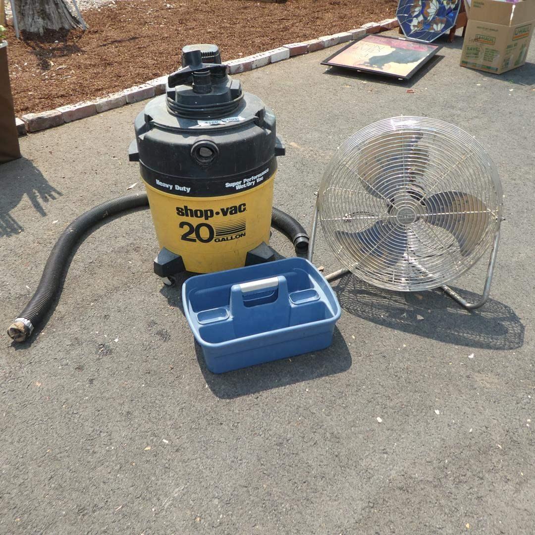 Lot # 104 - 20 Gallon Shop Vac & Industrial Fan (main image)