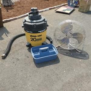 Lot # 104 - 20 Gallon Shop Vac & Industrial Fan