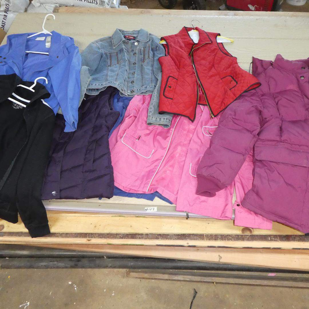 Lot # 108 - Ladies Jackets & Vests - See Pics For Sizes (main image)