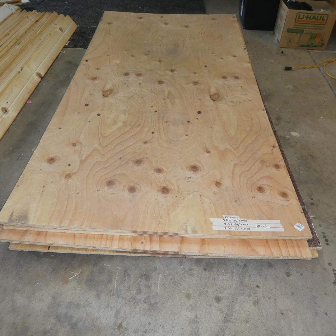 Lot # 110 - Plywood - See Pics For Dimensions (main image)