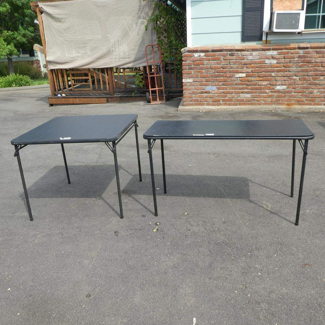 Lot # 118 - Two Folding Tables (main image)