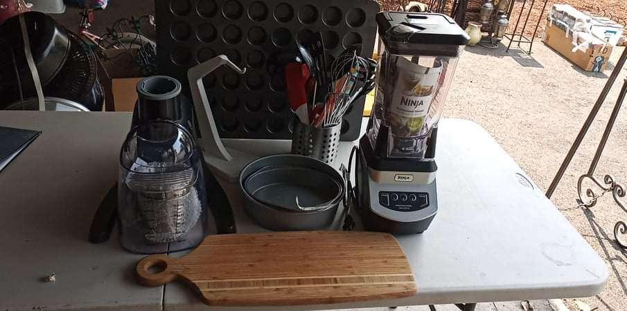 Lot # 19 - Kitchen Appliances Including A Ninja Blender, Bakeware And Utensils  (main image)