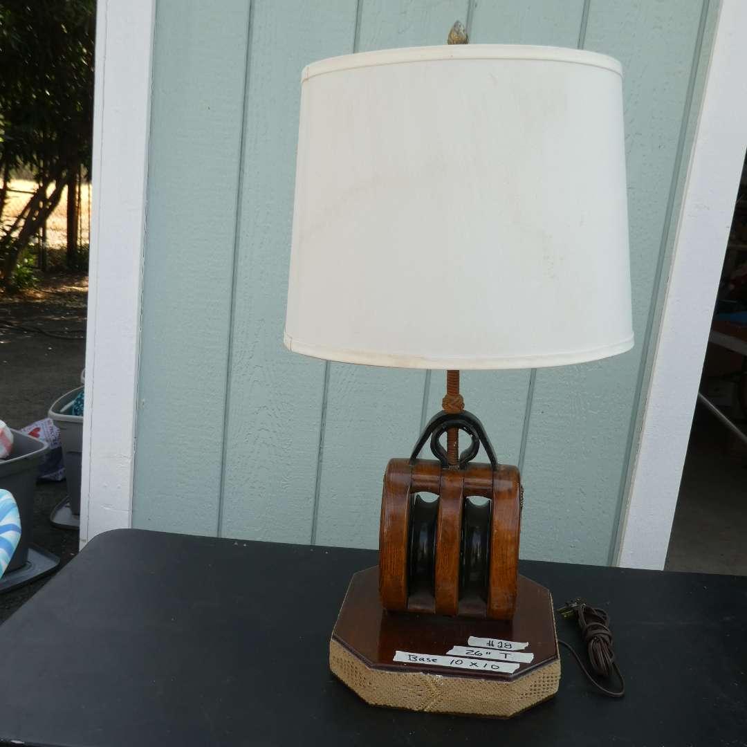 Lot # 28 - Heavy Nautical Lamp  (main image)