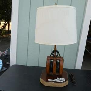 Lot # 28 - Heavy Nautical Lamp