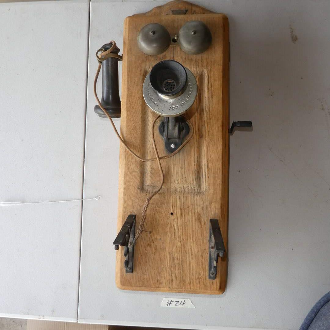 Lot # 24 - Antique Wall Telephone (main image)