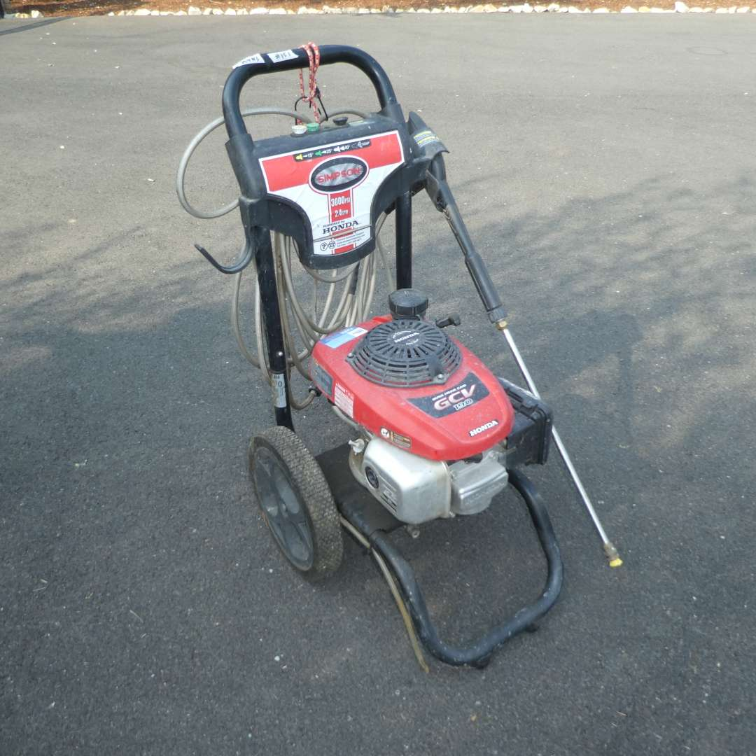 Lot # 151 - Simpson Pressure Washer - 3000 PSI 2.4 GPM - Powered By Honda  (main image)