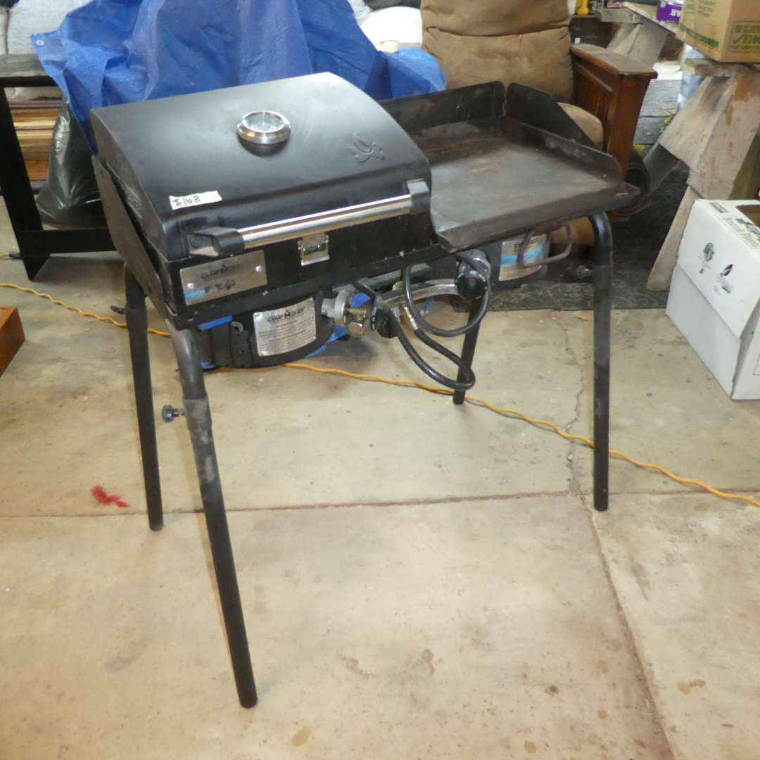 Lot # 168 - Two Burner Camp Chef Explore Stove w/ Grill and Griddle (main image)