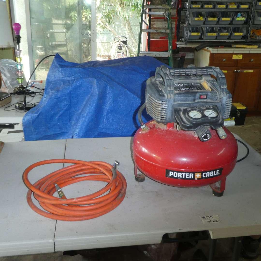 Lot # 175 - Porter- Cable 6 Gallon Air Compressor (main image)