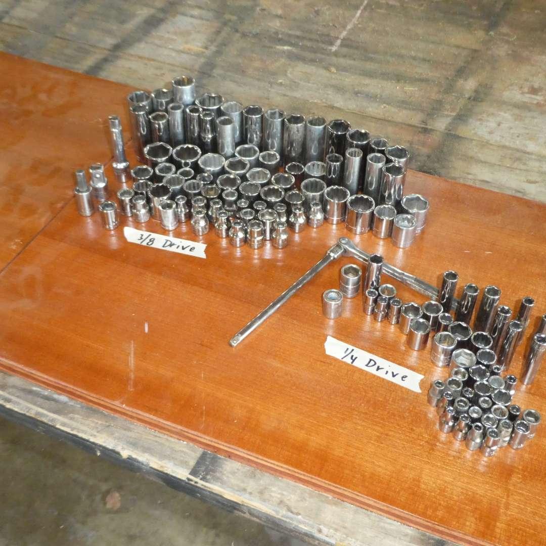 Lot # 187 - Assortment of Craftsman Sockets  (main image)