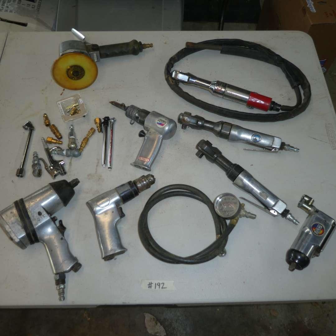 Lot # 192 - Assorted Air Tools  (main image)