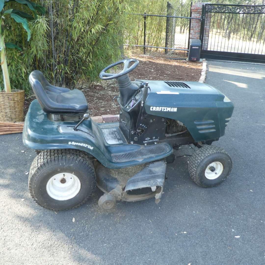 Lot # 194 - Craftsman Riding Lawn Mower (Needs Drive Belt) (main image)