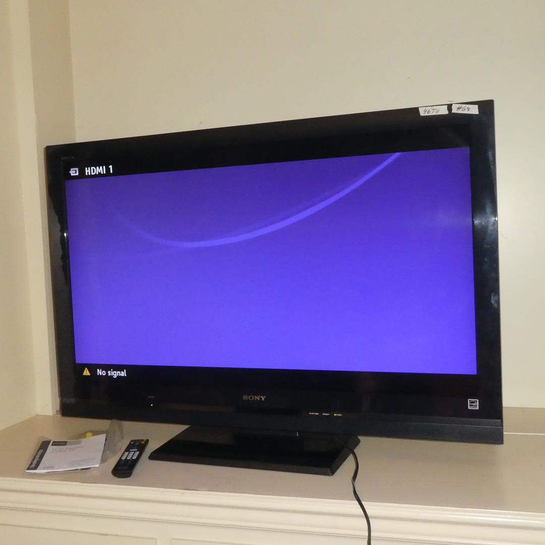 "Lot # 68 - Sony Bravia 46"" LCD Digital TV w/Remote & Manual (main image)"