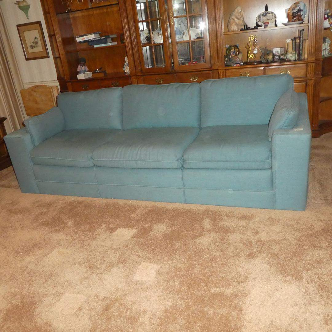 Lot # 73 - Vintage Turquoise Sofa  (main image)