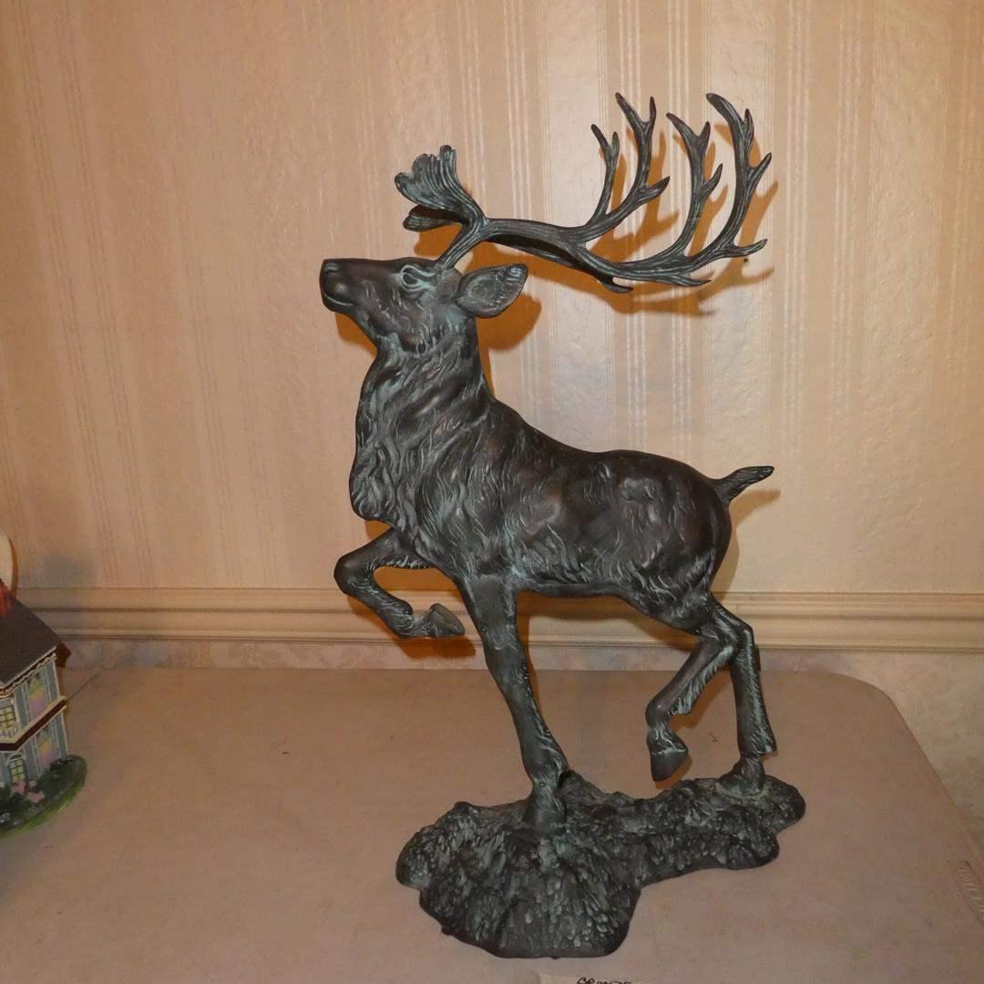 Lot # 88 - Bronze Elk Sculpture (main image)