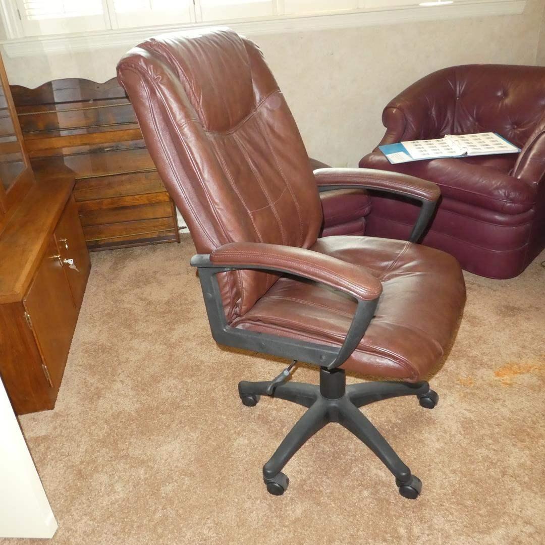 Lot # 96 - Burgundy Office Chair (main image)