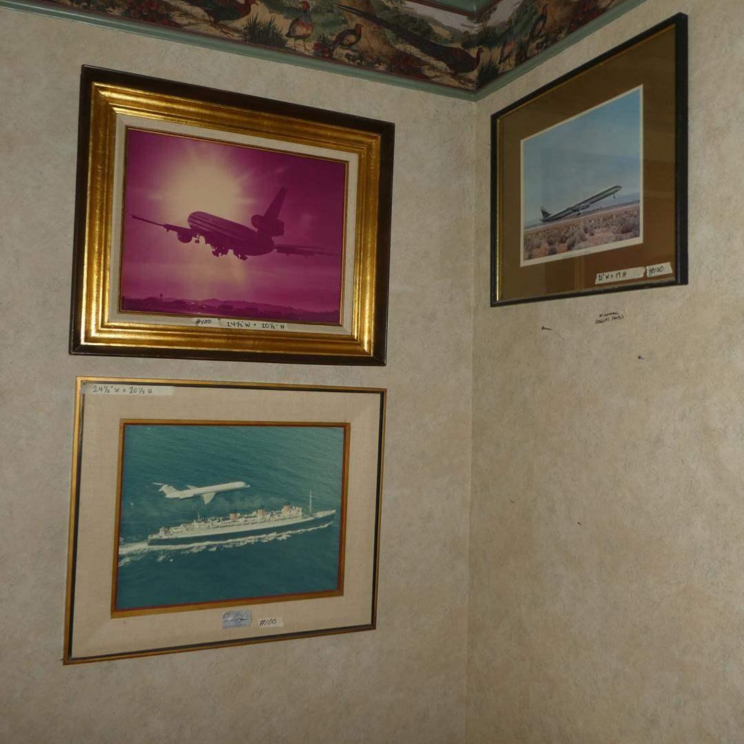 Lot # 100 - Three Framed McDonnell Douglas Aircraft Photos (main image)