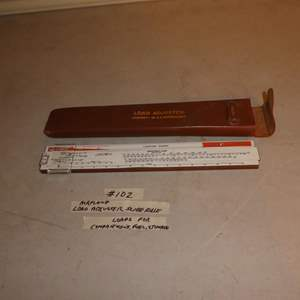 Lot # 102 - Vintage Airplane Load Adjuster Slide Rule