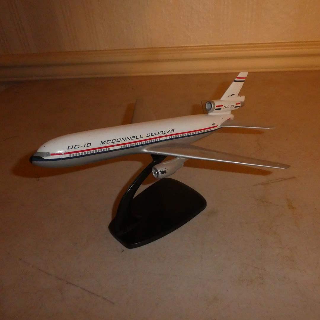 Lot # 103 - Vintage Plastic McDonnell Douglas DC-10 Model Plane - (main image)