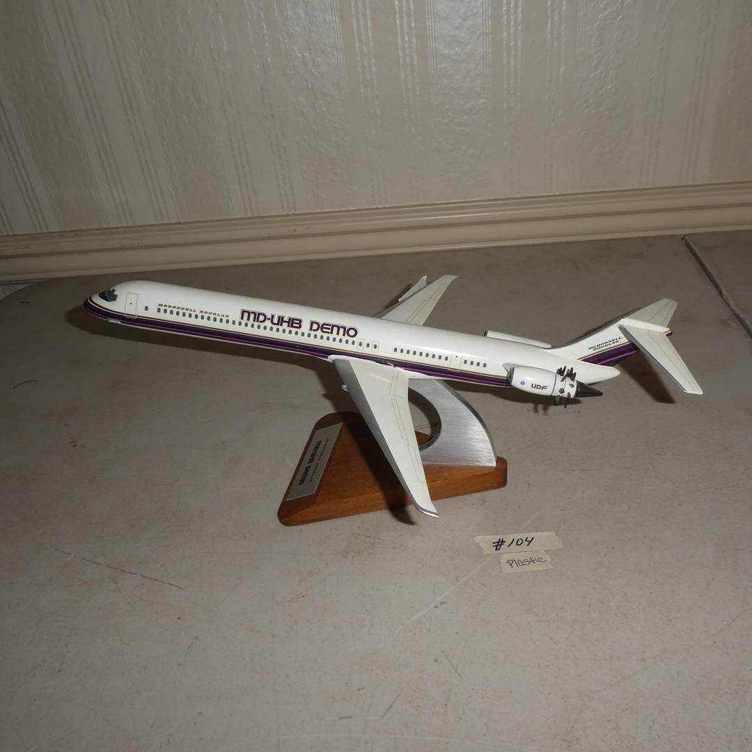 Lot # 104 -  Vintage Plastic McDonnell Douglas MD-UHB Demo Model Plane (main image)