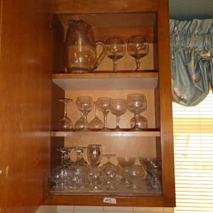 Lot # 3 -Various Stemware With Pitcher