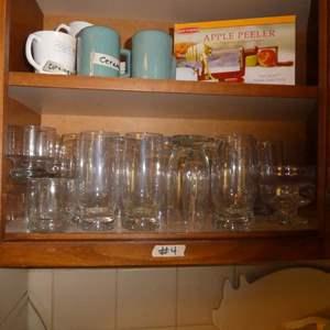 Lot # 4 - Salt & Pepper Shakers, Misc. Cups, Small Bowls, Apple Pealer