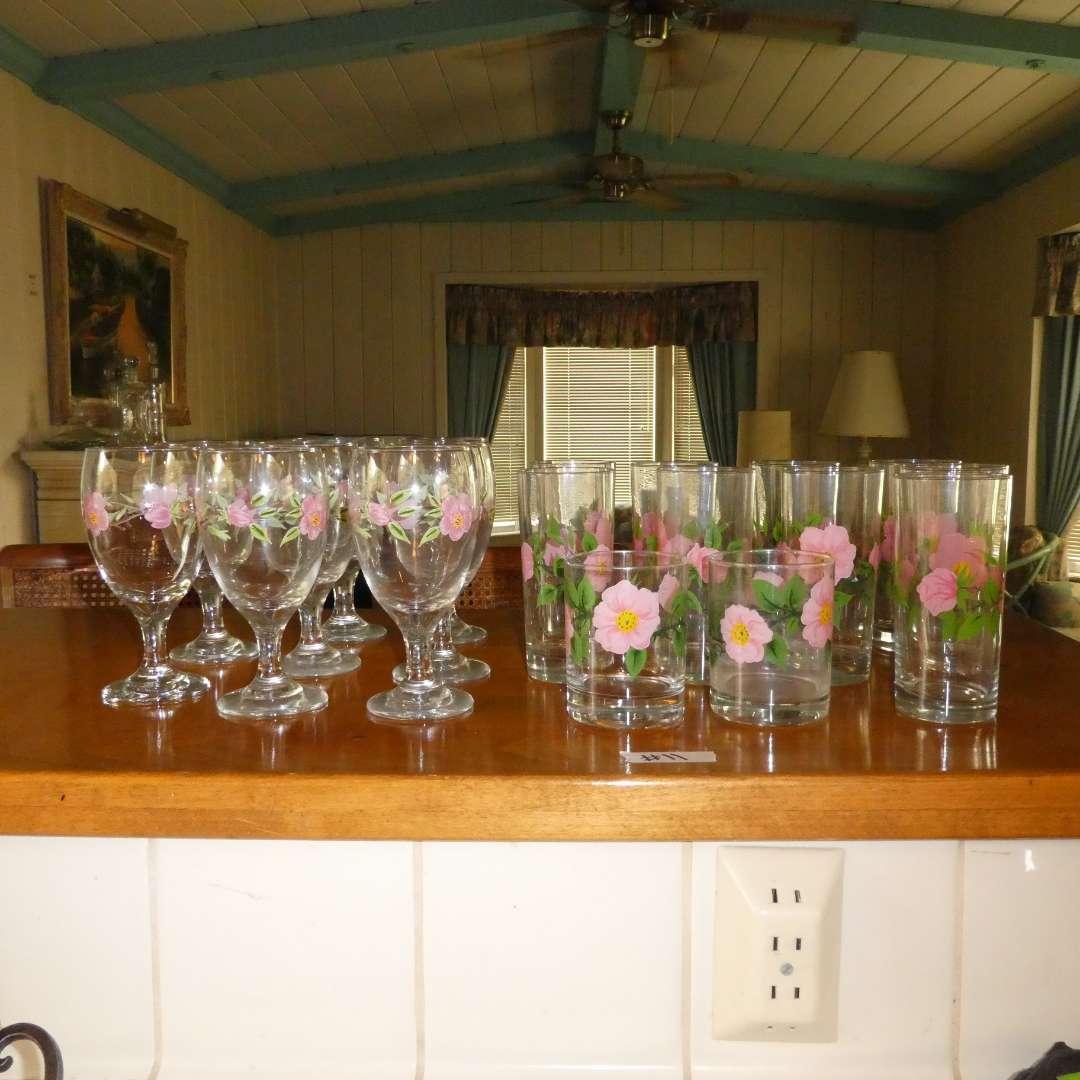 Lot # 11 - Franciscan Desert Rose Drinking Glasses (main image)