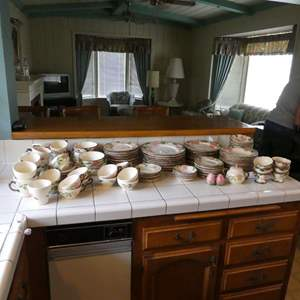 Lot # 15 -  126 Pieces of Desert Rose Dish Large Collection