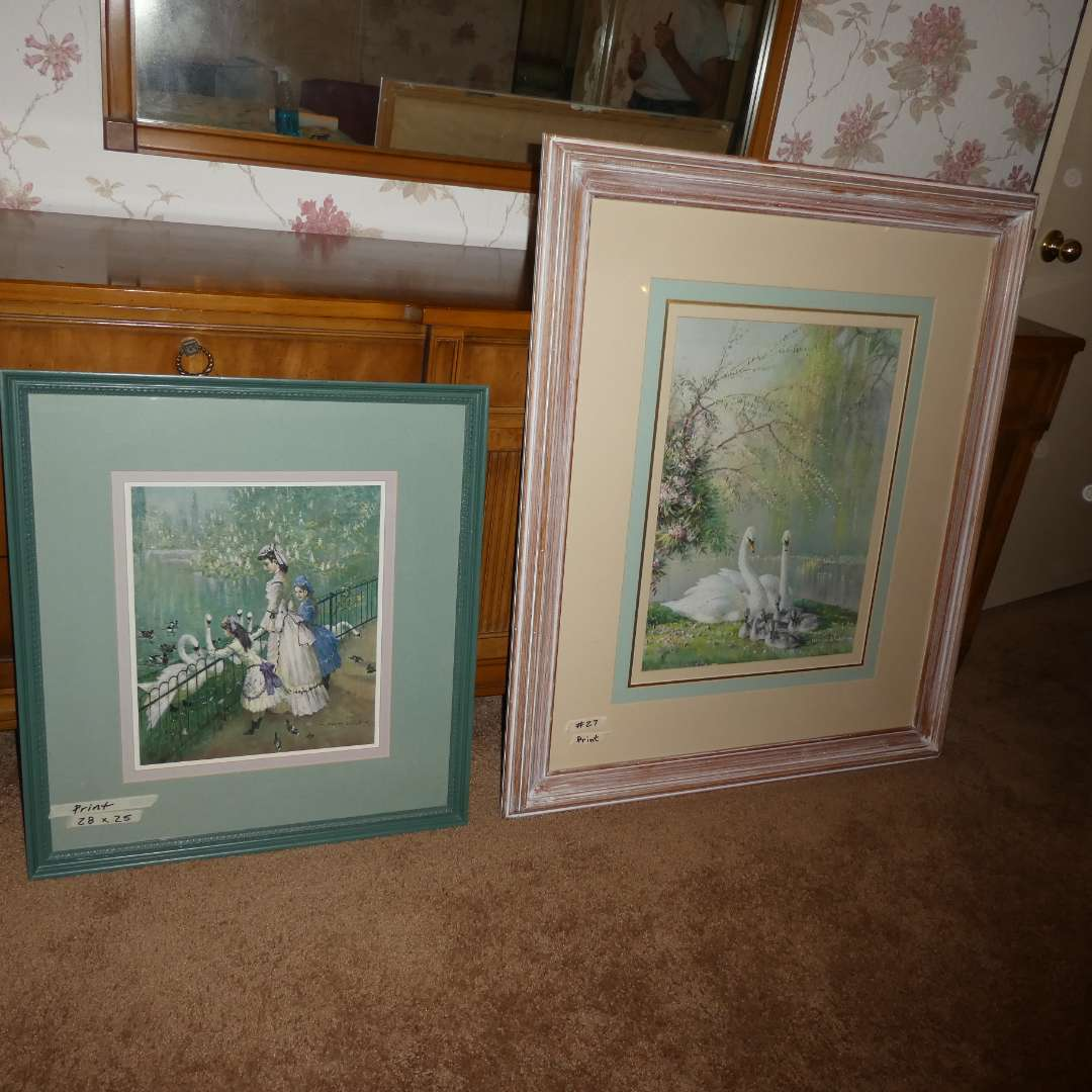 Lot # 27 - Two Different Swan Prints (main image)