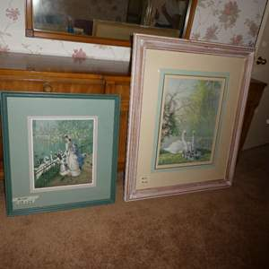 Lot # 27 - Two Different Swan Prints
