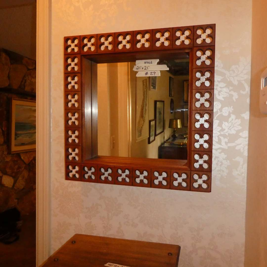 Lot # 29 - Howard Miller Clock Co. Wall Mirror (main image)