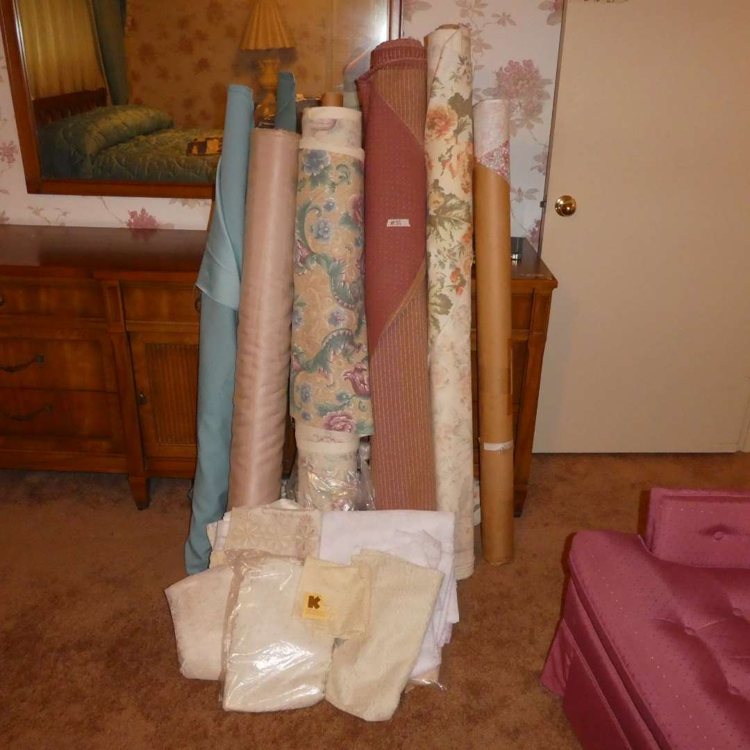 Lot # 31 - Vintage Bolts of Fabric and Lace (main image)