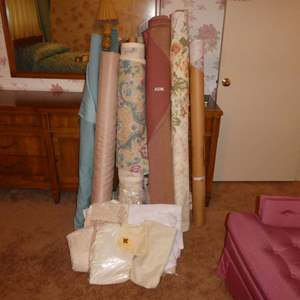 Lot # 31 - Vintage Bolts of Fabric and Lace