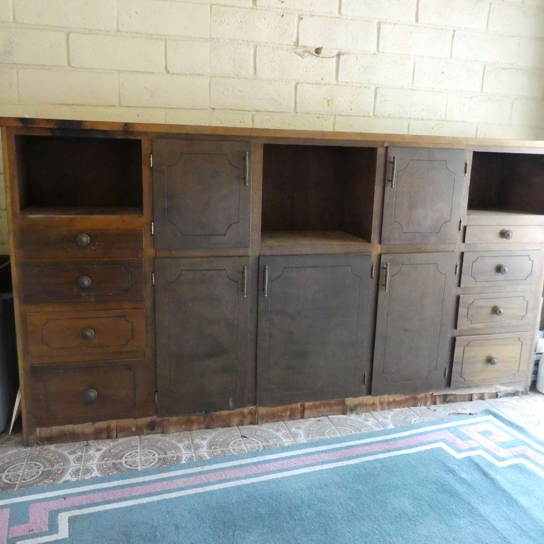 Lot # 48 - Very Large Cabinet With Drawers Full Of Misc. (main image)
