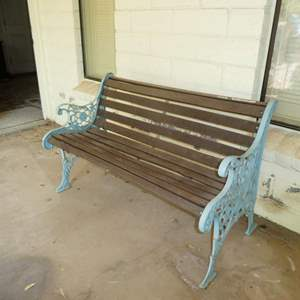 Lot # 205 - Adorable Cast Iron and Wood Bench