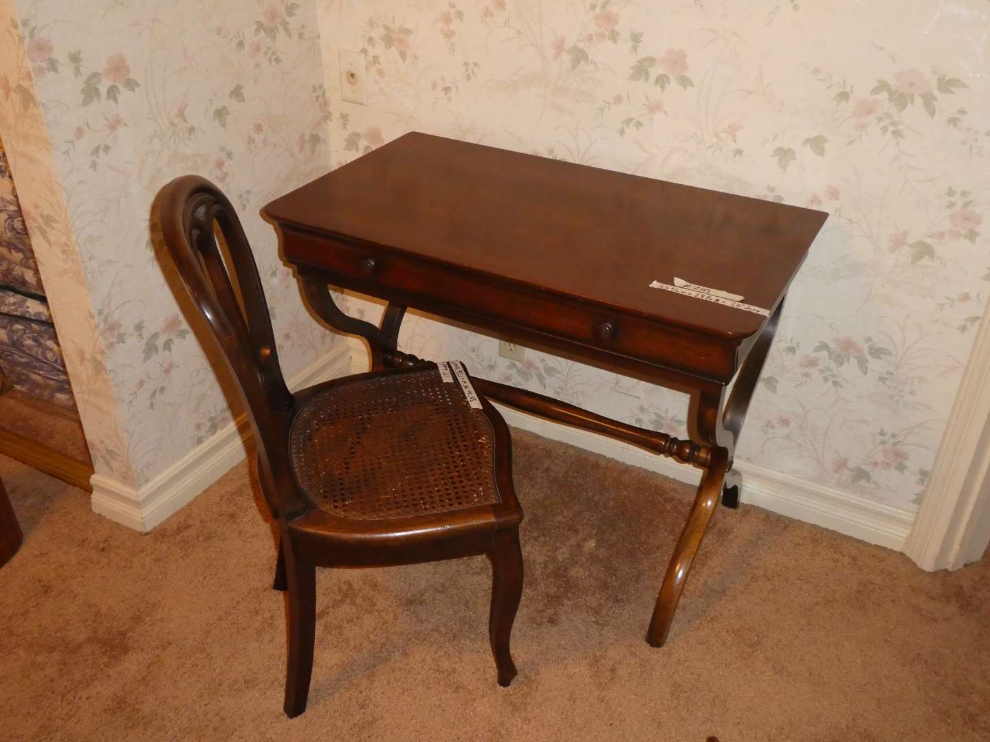 """Lot # 251 - Super Cool Vintage """"French Writing Desk"""" & Chair (main image)"""