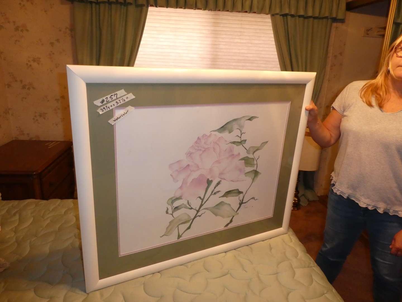Lot # 257 - Large Original Signed Watercolor  (main image)
