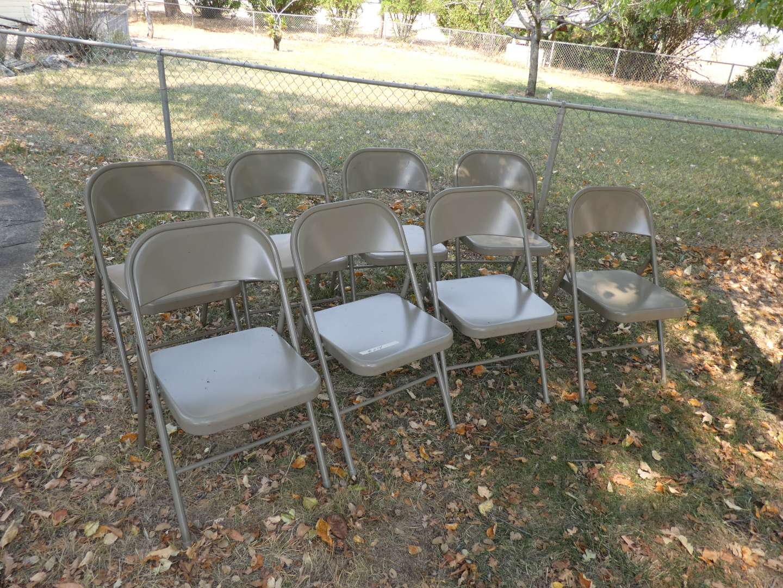 Lot # 274 - 8 Metal Folding Chairs (Like New) (main image)