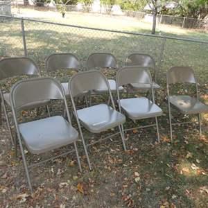 Lot # 274 - 8 Metal Folding Chairs (Like New)