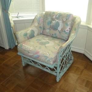 Lot # 154 - Vintage Ficks Reed Rattan Chair