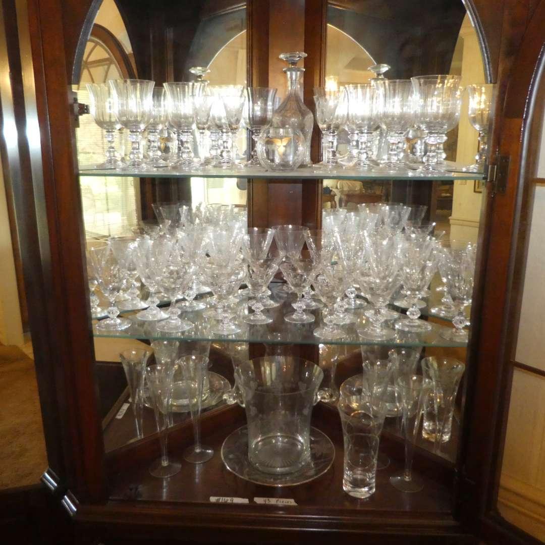Lot # 169 - Assortment of Vintage Glass Stemware, Ice Bucket, Decanter & More (main image)